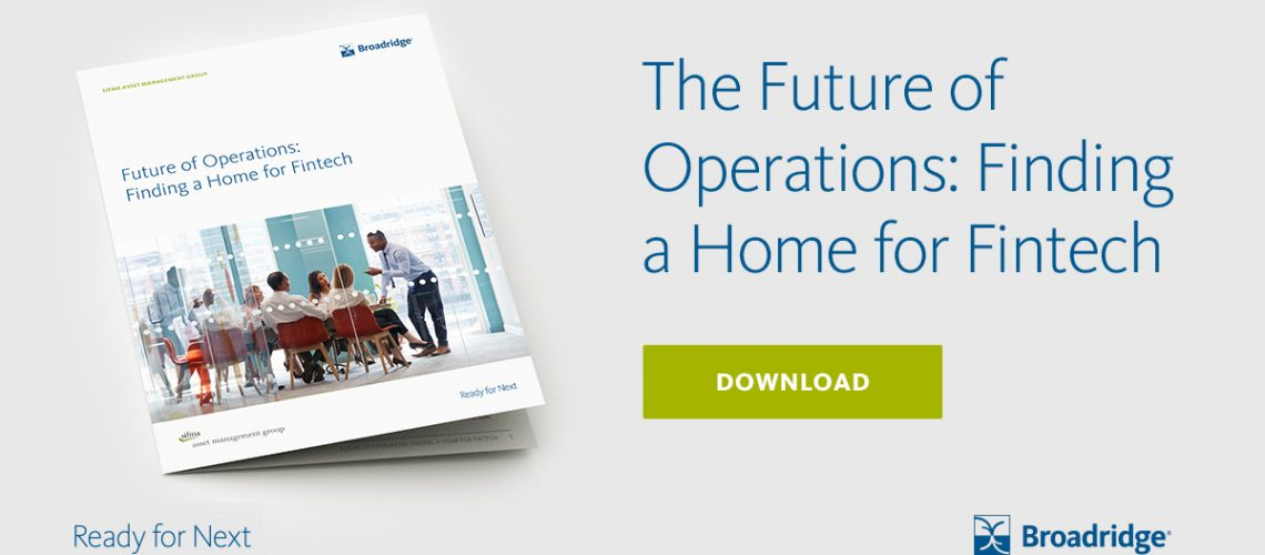 The Future of Operations: Finding a Home for Fintech